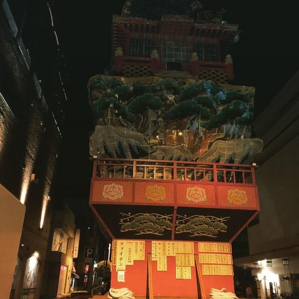 山鉾の灯が落ちて。5月21日酒田まつり 裏祭り