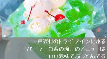 戸沢村のドライブインにある「パーラー白糸の滝」のメニューはいい意味でぶっとんでる